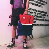 後背包 書包韓版 學生大容量雙肩包男帆布背包【非凡上品】j618