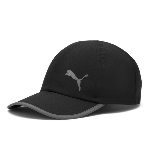 Puma Running 黑 帽子 棒球帽 運動帽 網球帽 運動 慢跑 六分割帽 可調整式 運動帽 02232502
