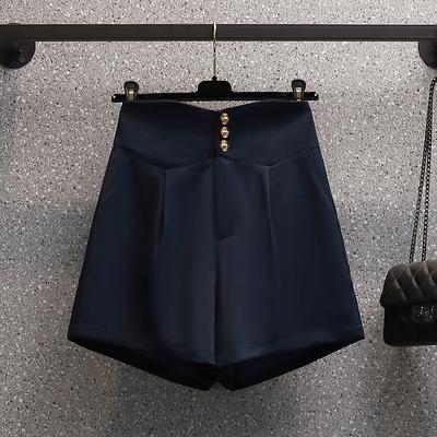 大碼高腰短褲高腰闊腿褲休閑褲子 3331 R26 L-4XL 胖妹衣櫥