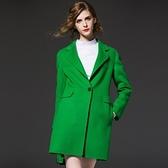 風衣外套-長版修身簡約流行女毛呢大衣2色73ir4【時尚巴黎】