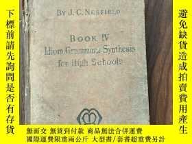 二手書博民逛書店KEY罕見TO IDIOM,GRAMMAR, AND SYNTHESISY8495 J.C.NESFIELD,