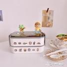 便当盒 ins簡約風雙層飯盒日式便當盒學生便攜水果餐盒微波爐加熱上班族 Cocoa