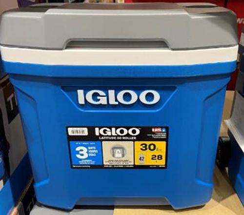 [COSCO代購] C1480649 IGLOO LATITUDE 30QT ROLLER COOLER 美國製28公升滾輪冰桶