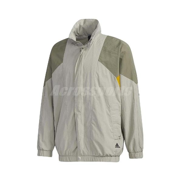 adidas 外套 Must Haves Woven Jackets 綠 黃 男款 立領 運動休閒 【ACS】 GE0385