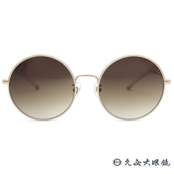 LASH 墨鏡 GLIM IV04 ( 藕灰) 圓框 韓國 太陽眼鏡 久必大眼鏡