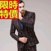 成套西裝 包含西裝外套+褲子 男西服-制服上班族與眾不同流行顯瘦高檔54o46[巴黎精品]