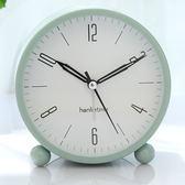 【618好康鉅惠】小鬧鐘創意靜音學生床頭簡約鐘表座鐘