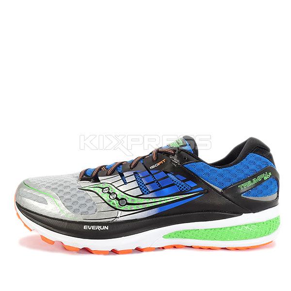 Saucony Triumph ISO 2 [S20290-1] 男鞋 運動 休閒 慢跑 健身 舒適 避震 穩定 銀 藍