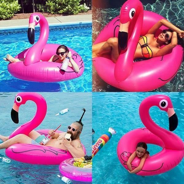 火鶴 游泳圈 泳圈 粉紅鳥 火烈鳥 海邊度假比基尼 NXS