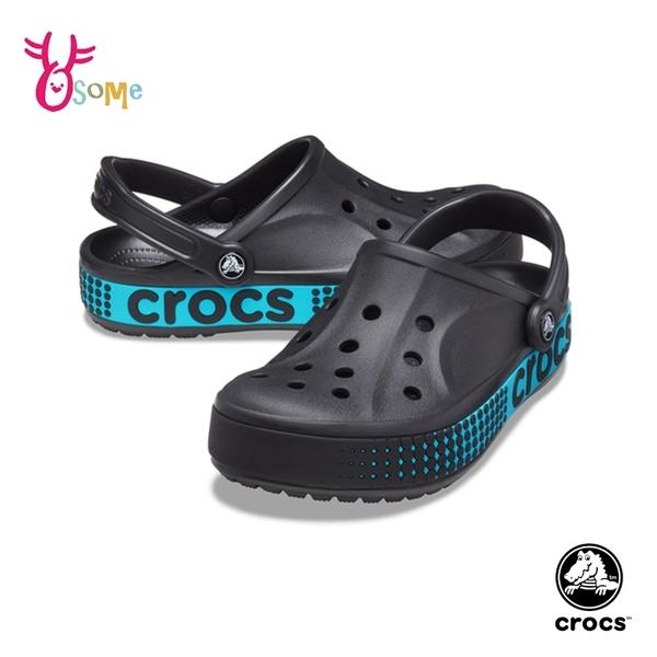 Crocs卡駱馳洞洞鞋 女鞋 園丁鞋 智必星 防水布希鞋 涼拖鞋 一鞋兩穿 A1771#黑藍◆OSOME奧森鞋業