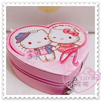 ♥小花花日本精品♥Hello Kitty Daniel丹尼爾珠寶盒首飾盒飾品盒心型粉色站姿粉色日本限定11303800