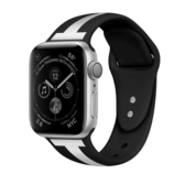 索柯 表帶適用于Apple watch硅膠運動表帶iwatch 1/2/3/4代通用