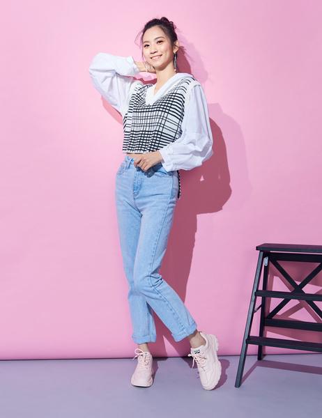 ★2019秋冬★Keeley Ann輕運動潮流 經典綁帶休閒鞋(粉紅色)-Ann系列