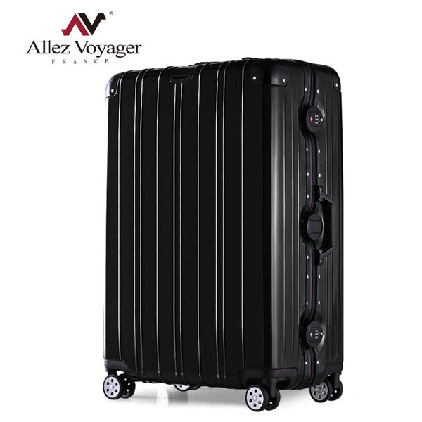 行李箱 鋁框箱 29吋 PC金屬堅固鋁框專利飛機輪 法國奧莉薇閣 無與倫比的美麗系列