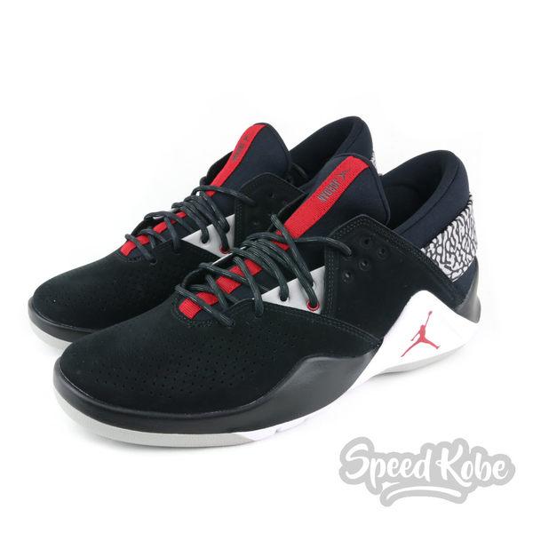 75b147a9b337 NIKE Jordan Flight Fresh PREM 黑灰爆裂紋低筒籃球鞋男AH6462-
