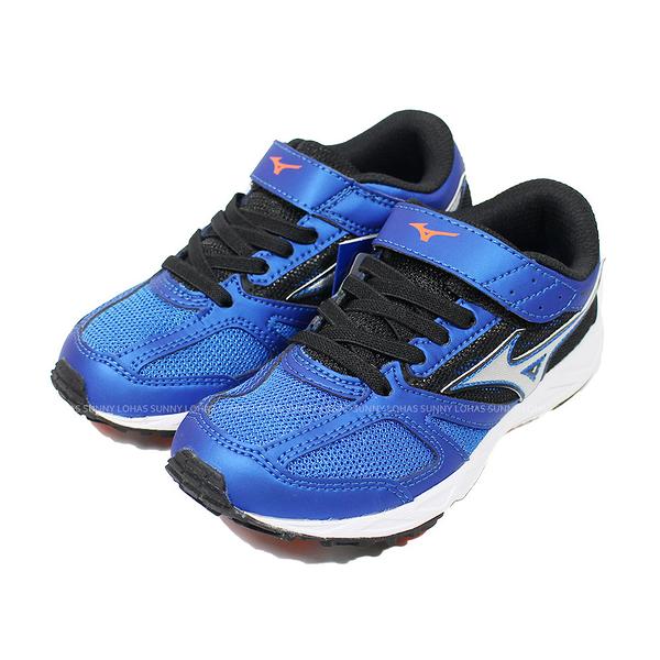 (B3) MIZUNO 美津濃 童鞋SPEED STUDS BELT 慢跑 運動鞋 K1GC194028藍黑 [陽光樂活]