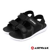 【AIRWALK】網往相連休閒涼鞋-女款-黑
