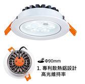 好商量~ 舞光 8W LED 平面 崁燈 9cm