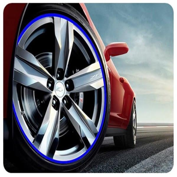 【PVC輪框條】車用輪胎螢光貼條 風火輪反光車貼 車載鋁圈保護圈 防刮傷擦撞貼紙 輪框護膠條