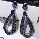 《Caroline》★/兩色可選.秋冬新色上市/韓國熱賣復古造型時尚耳環  個性大氣時尚流行耳環70068