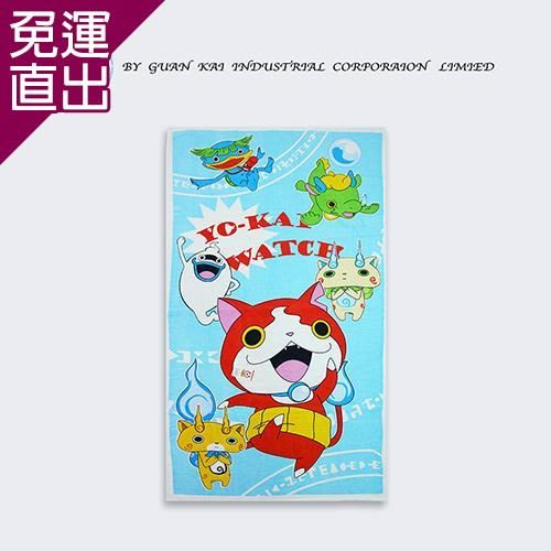 妖怪手錶 可愛萬用圖騰浴巾2入(藍、粉、黃 贈海綿寶寶萬用提袋)【免運直出】