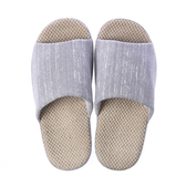 HOLA 舒適直紋盆底拖鞋-灰XL