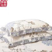 全棉加厚夾棉枕套 純棉枕頭套拉錬式枕皮花邊枕套一對「韓風物語」