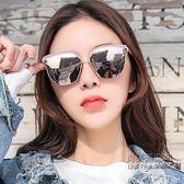 (交換禮物)韓版gm墨鏡女潮圓臉偏光太陽鏡眼鏡款復古原宿風