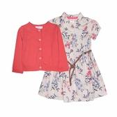 Carter s卡特 針織薄外套+短袖洋裝+套裝三件組 桃紅 | 女寶寶連衣裙(嬰幼兒/兒童/小孩)