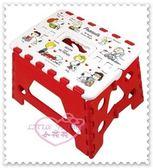 ♥小花花日本精品♥Hello Kitty 史努比Snoopy折疊椅摺疊凳小椅凳方形方便攜帶易收納(預購)