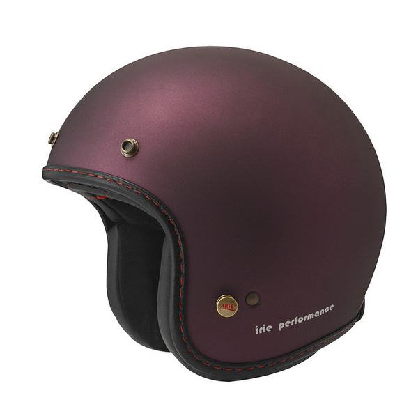 ZEUS 瑞獅安全帽,復古帽,ZS-385B,素/消光暗紫紅
