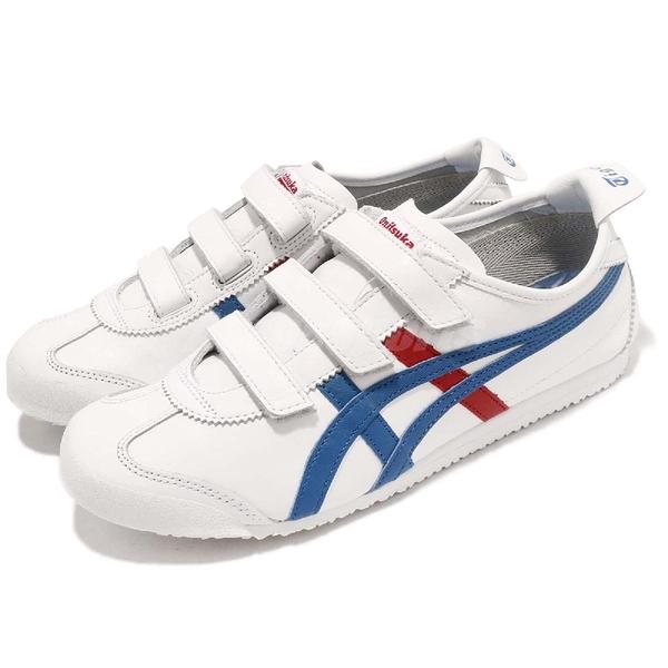 Asics 復古慢跑鞋 Mexico 66 Baja 白 藍 紅 皮革 魔鬼氈 休閒鞋 男鞋 女鞋【ACS】 HK4A1-0142