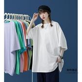 夏季短袖T恤女設計感小眾打底中袖上衣寬鬆韓版百搭【聚物優品】