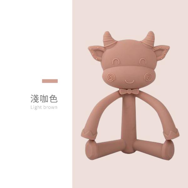母嬰同室 小牛造型固齒器(附收納盒) 寶寶牙膠 安撫玩具 幼兒固齒器 教育玩具 可愛造型【ED0010】