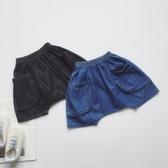 仔兄家 男女寶寶中小童兒童夏季休閒舒適軟牛仔面包褲短褲哈倫褲