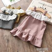 夏季2019新款女童吊帶洋裝兒童女寶超洋氣小女孩純棉公主童裝潮 韓語空間