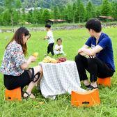 多功能家用時尚兒童小凳子創意塑料摺疊凳子便攜迷你戶外釣魚矮凳WD 晴天時尚館
