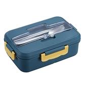 分隔型學生飯盒上班族可微波爐加熱小麥秸稈便當盒分格餐盒套裝 童趣潮品