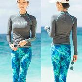 二件式泳裝│時尚美型長褲款衝浪泳衣+泳褲兩件式浮潛衣潛水服2件式水母衣服溫泉運動游泳衣
