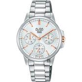 ALBA 雅柏 年輕率女孩日曆手錶-銀/34mm VD75-X105KS(AP6511X1)