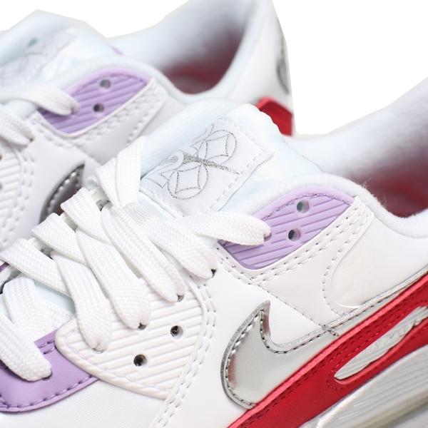 NIKE 休閒鞋 AIR MAX 90 紅白銀 2020新年限定 運動 氣墊 女 (布魯克林) CU3004-176