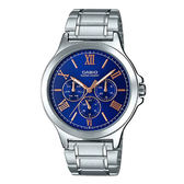 CASIO 卡西歐 手錶專賣店MTP-V300D-2A  羅馬三眼指針男錶  不鏽鋼錶帶 防水 三重折疊扣 MTP-V300D