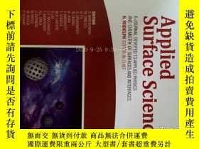 二手書博民逛書店Applied罕見Surface Science (journal) 1 08 2017 應用表面科學學術Y1
