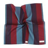 Calvin Klein 簡約拼色純綿帕巾(藍綠/紅)989091-259