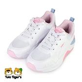 PUMA X-Ray 2 Square AC PS 套入式 中童 運動鞋粉白 NO.R6674(37419208)