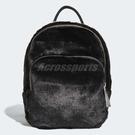 【五折特賣】adidas 後背包 Mini Classic Backpack 黑 白 女款 毛毛 絨毛 三葉草 白字體 【PUMP306】 DH4372