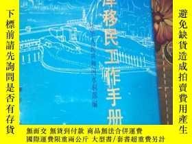 二手書博民逛書店罕見水庫移民工作手冊Y13956 : 中華人民共和國水利部編 :