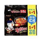 韓國 SamYang 三養 火辣雞肉炒麵 辣雞麵 韓國泡麵 進口泡麵 (5+1入) 【美日多多】
