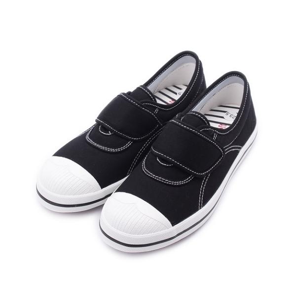 MY RABBIT 縫線魔鬼氈休閒鞋 黑 MT829A 女鞋