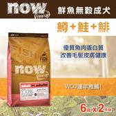 【毛麻吉寵物舖】Now! 鮮魚無穀天然糧 成犬配方 6磅兩件優惠組 狗飼料/WDJ推薦